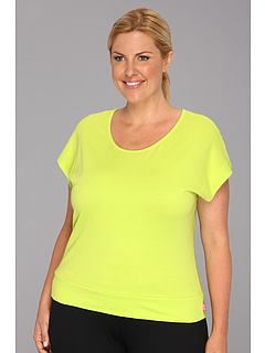 SALE! $16.99 - Save $28 on Ryka Plus Size Open Back T (Lime Light) Apparel - 62.24% OFF $45.00