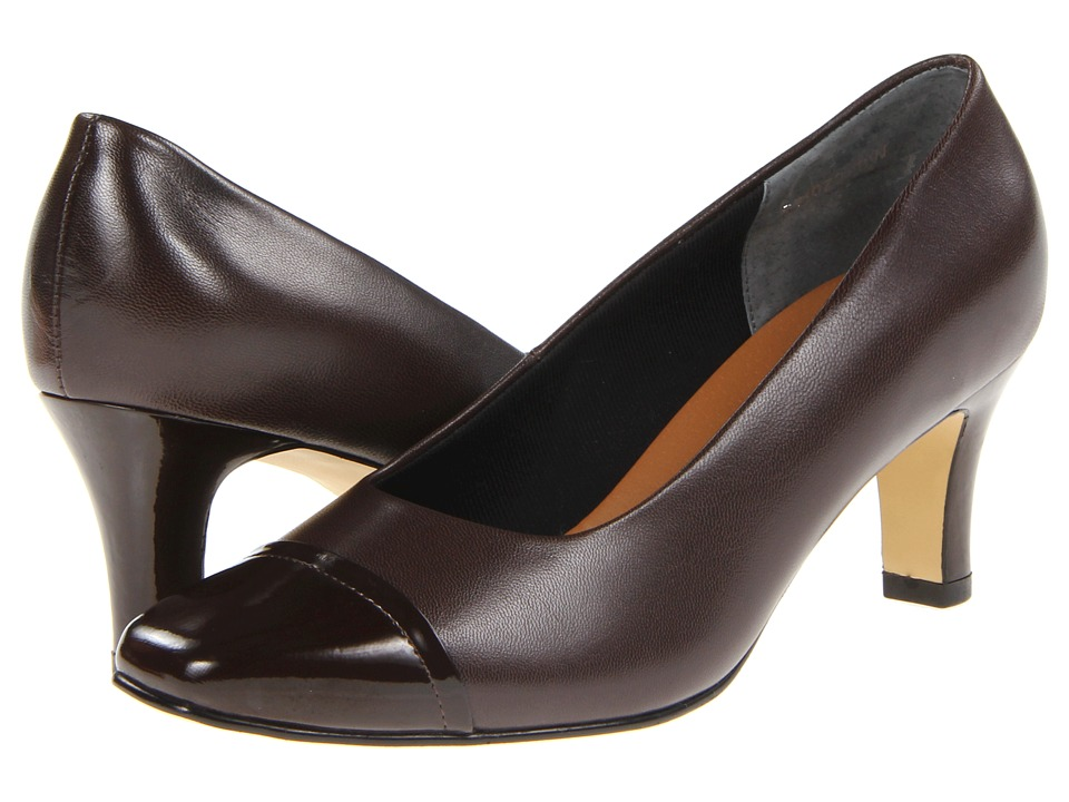 Rose Petals - Race (Brown Kid/Patent) High Heels