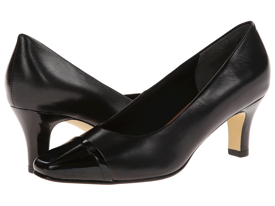 Rose Petals - Race (Black Kid/Patent) High Heels