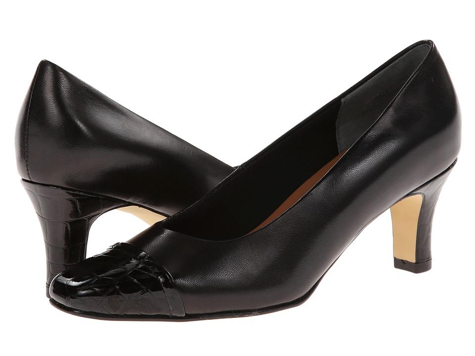 Rose Petals - Race (Black Kid/Croc Patent) High Heels