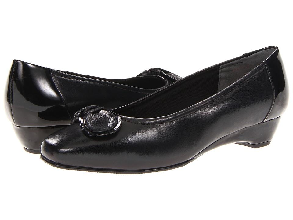 Rose Petals - Bean (Black Kid/Patent) Women's Slip on Shoes