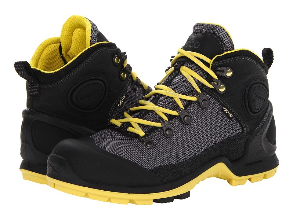ECCO Sport - Akka Mid Lite GTX(r) (Black/Titanium/Buttercup) Women's Hiking Boots