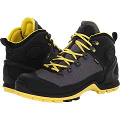 ECCO Sport Akka Mid Lite GTX (Black Titanium Buttercup) Footwear
