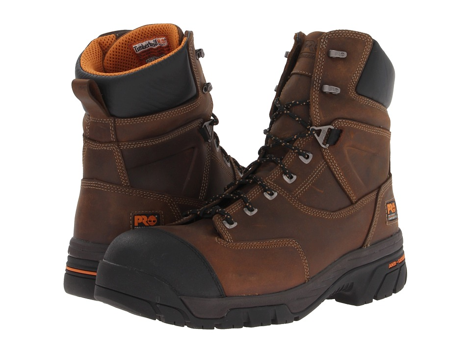 Timberland PRO - Helix 8 WP Insulated Comp Toe (Brown Oiled) Men's Work Boots