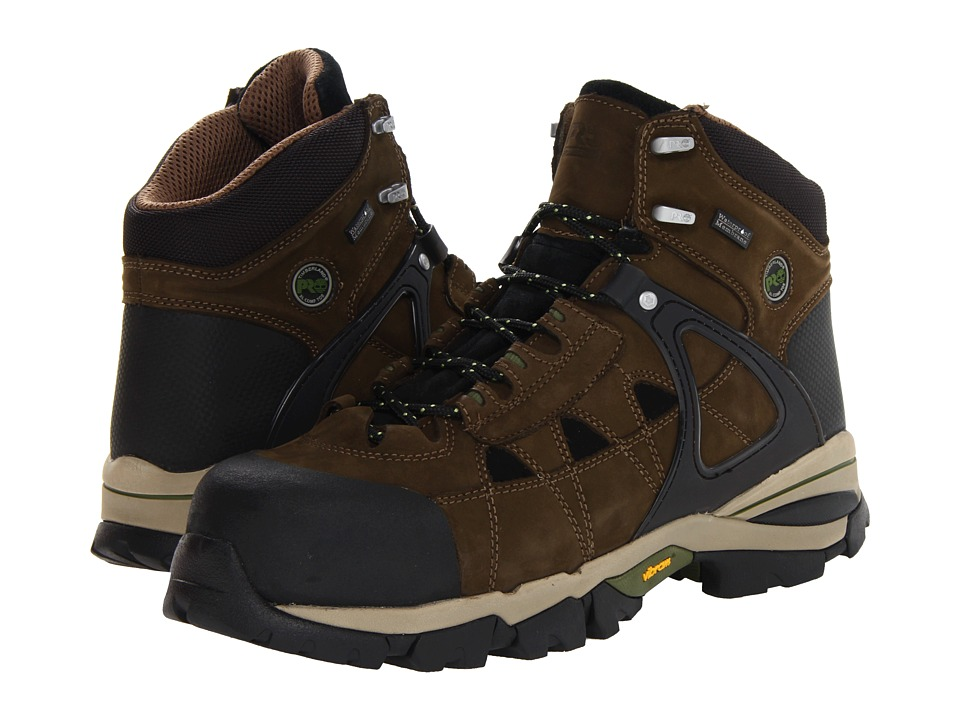 Timberland PRO - Hyperion WP Insulated Safety Toe (Olive Brown) Men's Work Boots