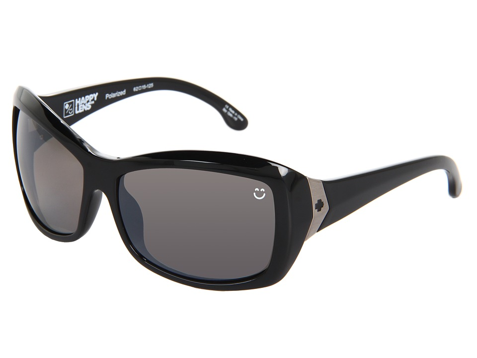 Spy Optic - Farrah (Happy Lens) (Black- Happy Bronze Polar W/ Black Mirror) Sport Sunglasses