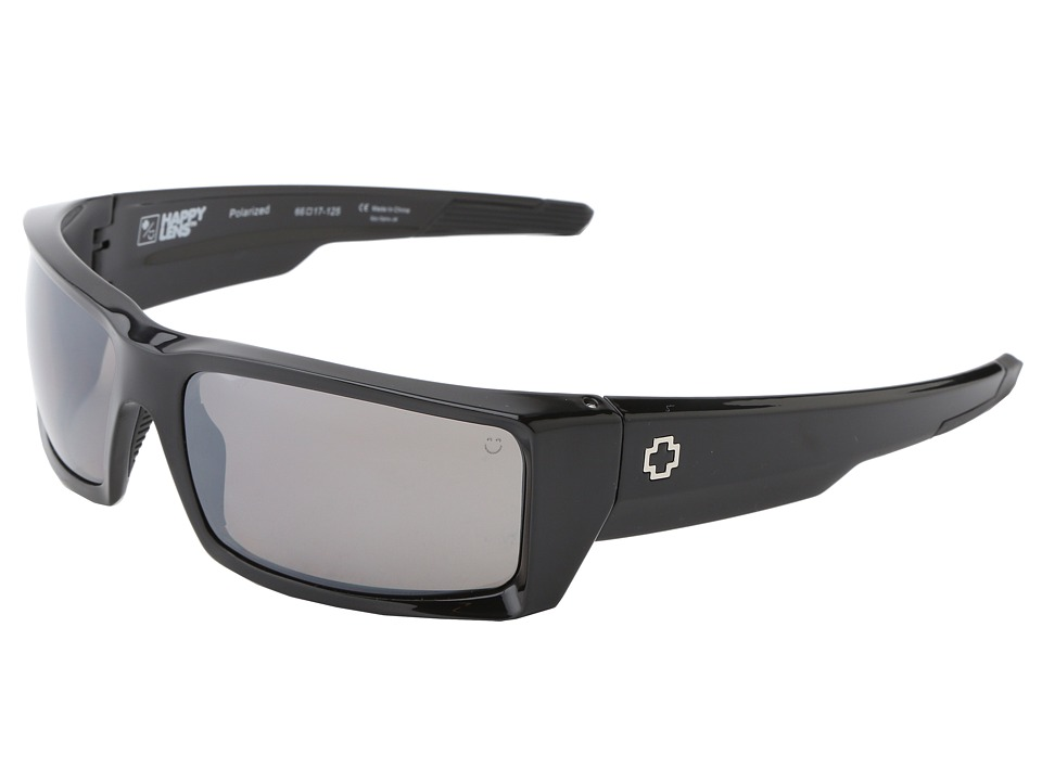 Spy Optic - General (Happy Lens) (Black-Happy Bronze Polar W/Black Mirror) Sport Sunglasses