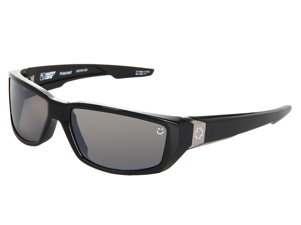 Spy Optic - Dirty Mo (Happy Lens) (Black-Happy Bronze Polar W/Black Mirror) Sport Sunglasses