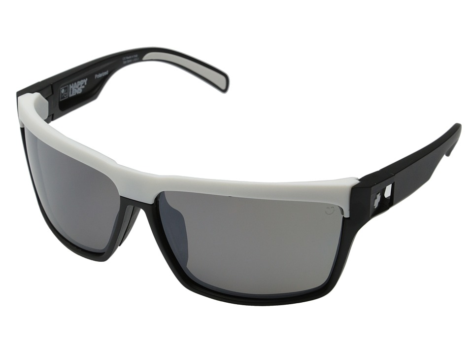 Spy Optic - Cutter (Happy Lens) (Matte Black/White-Happy Bronze Polar W/Black Mirror (Rose)) Sport Sunglasses