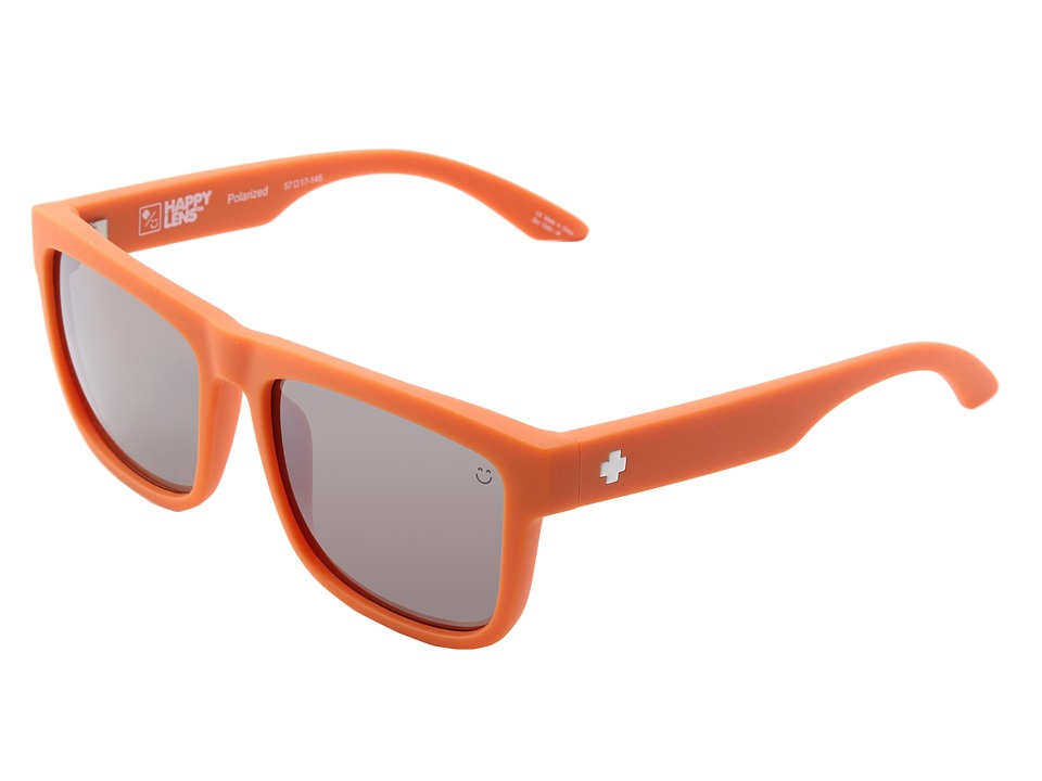 Spy Optic - Discord (Happy Lens) (Matte Orange-Happy Bronze Polar W/Black Mirror) Sport Sunglasses