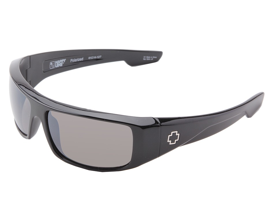Spy Optic - Logan (Happy Lens) (Black- Happy Bronze Polar W/ Black Mirror) Sport Sunglasses