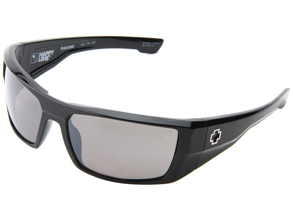 Spy Optic - Dirk (Happy Lens) (Black-Happy Grey Polar W/Black Mirror) Sport Sunglasses