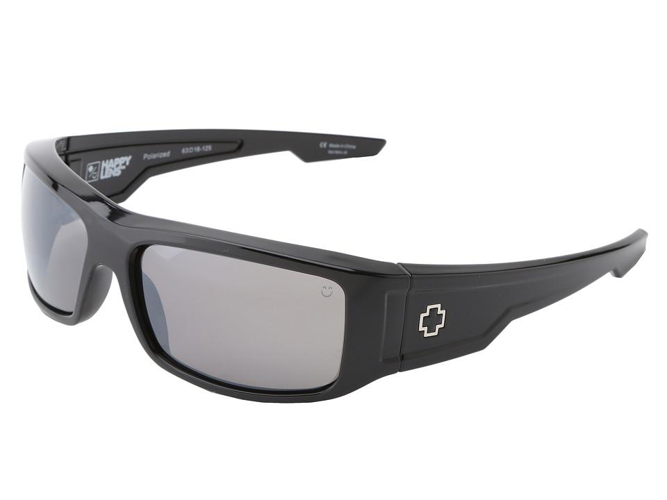 Spy Optic - Colt (Happy Lens) (Black- Happy Bronze Polar W/ Black Mirror) Sport Sunglasses
