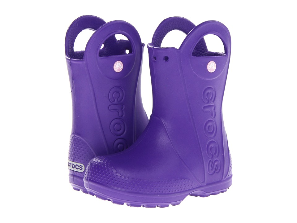 Crocs Kids - Handle It Rain Boot (Toddler/Little Kid) (Ultraviolet) Girls Shoes