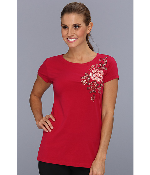Life is good - Topnotch Open Neck Tee (Cherry Red) Women's T Shirt