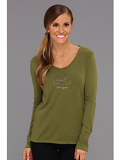 SALE! $16.99 - Save $19 on Life is good Crusher L S Lightweight Vee (Olive Green) Apparel - 52.81% OFF $36.00