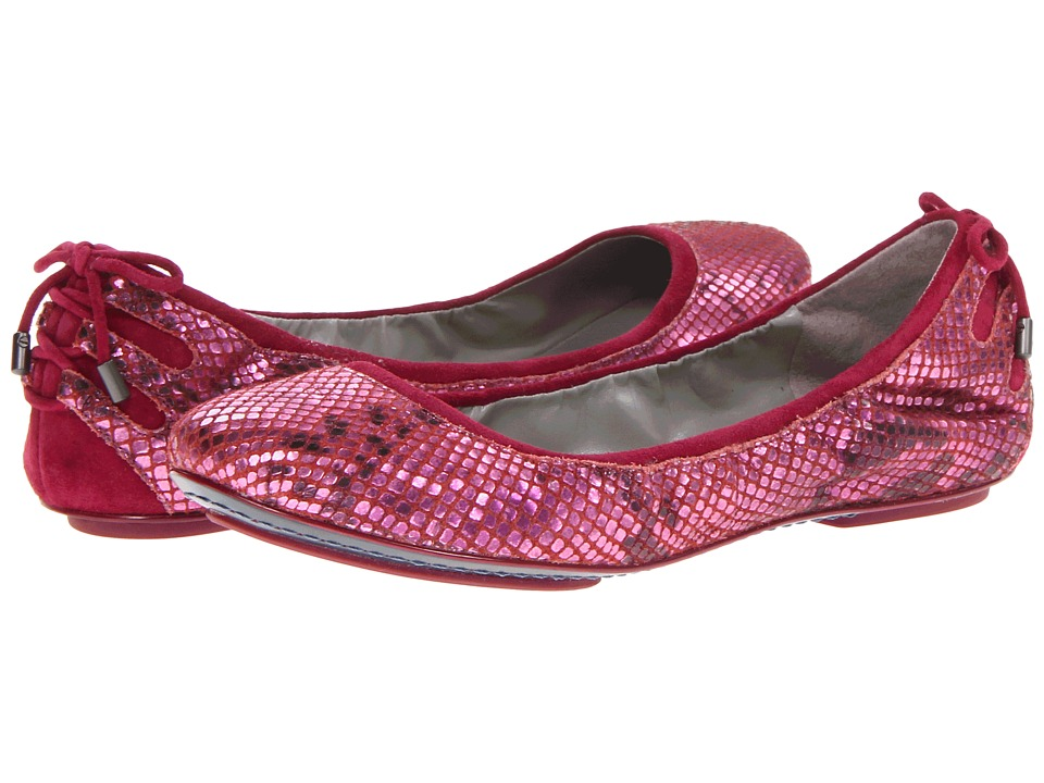 Cole Haan - Air Bacara Ballet (Metallic Winery Snake Print/Winery Suede) Women
