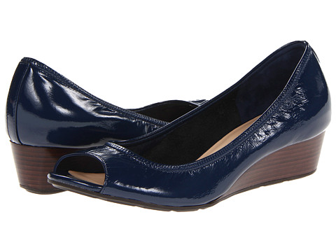 Cole Haan - Air Tali OT Wedge 40 (Blazer Blue Patent) Women's Wedge Shoes