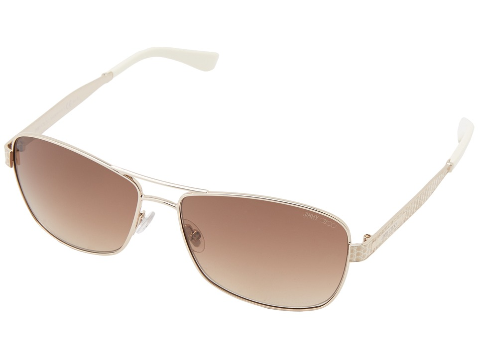 Jimmy Choo - Cris/S (Light Gold/Brown Gradient) Fashion Sunglasses