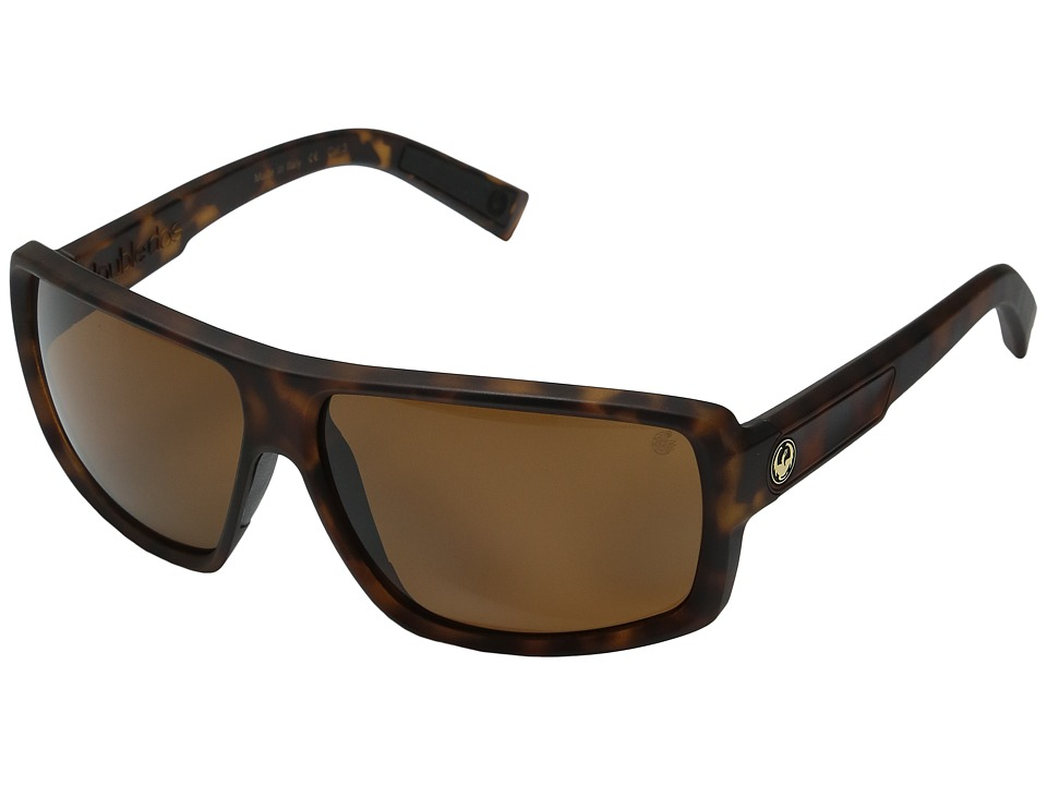Dragon Alliance - Double Dos (Matte Tortoise/Bronze P2) Sport Sunglasses