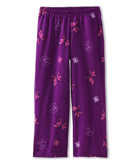 Life is good Kids - Girls Sleep Pant Butterfly (Toddler/Little Kids/Big Kids) (Vibrant Purple) Girl's Pajama