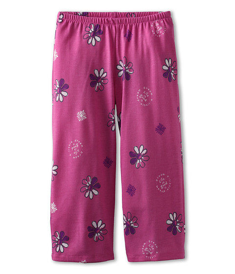 Life is good Kids - Girls Sleep Pant Flower (Toddler/Little Kids/Big Kids) (Hot Fushia) Girl's Pajama