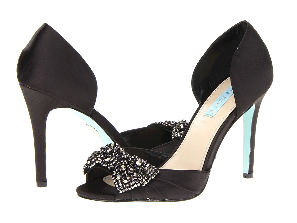 Blue by Betsey Johnson - Gown (Black Satin) High Heels