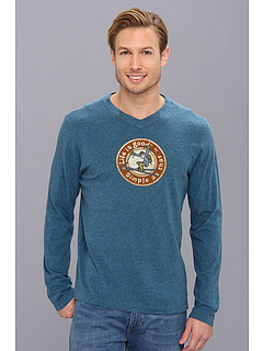 SALE! $17.99 - Save $18 on Life is good Creamy L S Vee (Pacific Blue Heather) Apparel - 50.03% OFF $36.00