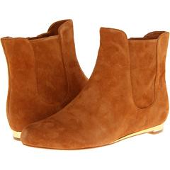 Cole Haan Astoria Short Boot (Camello Suede) Footwear