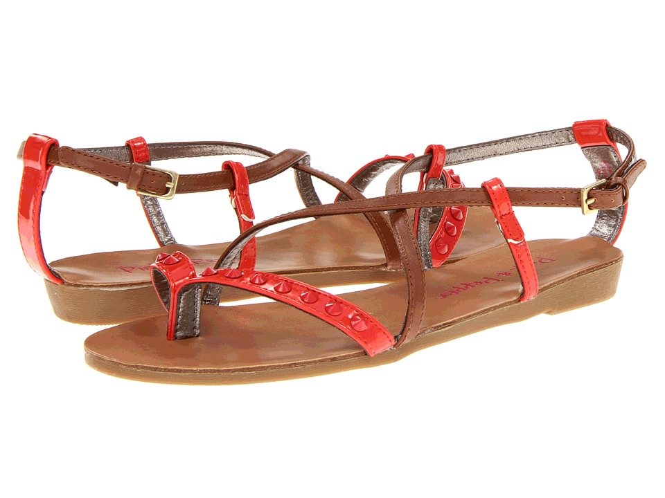 Pink & Pepper - Illa (Light Brown/ Coral) Women's Sandals