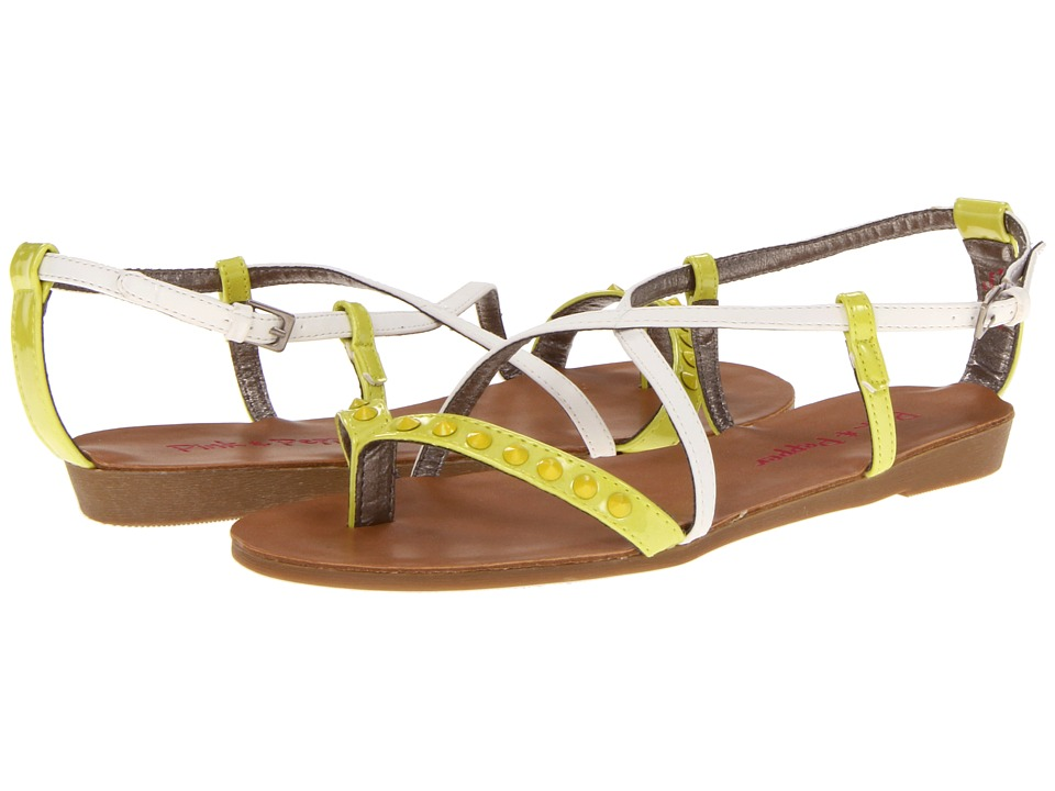 Pink & Pepper - Illa (White/Lime) Women's Sandals