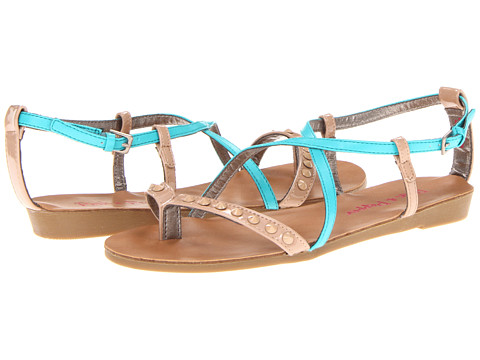 Pink & Pepper - Illa (Turquoise/Natural) Women's Sandals