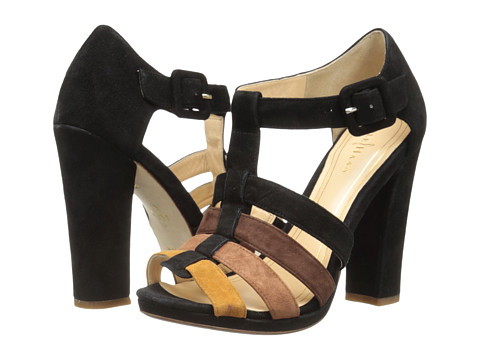 Cole Haan - Chelsea T-Strap Sandal (Black Suede Multi) Women