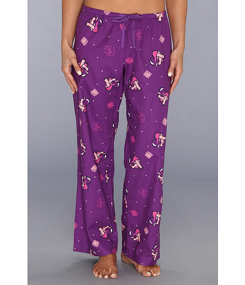 Life is good Flannel Sleep Pant (Vibrant Violet Hearts) Women's Pajama