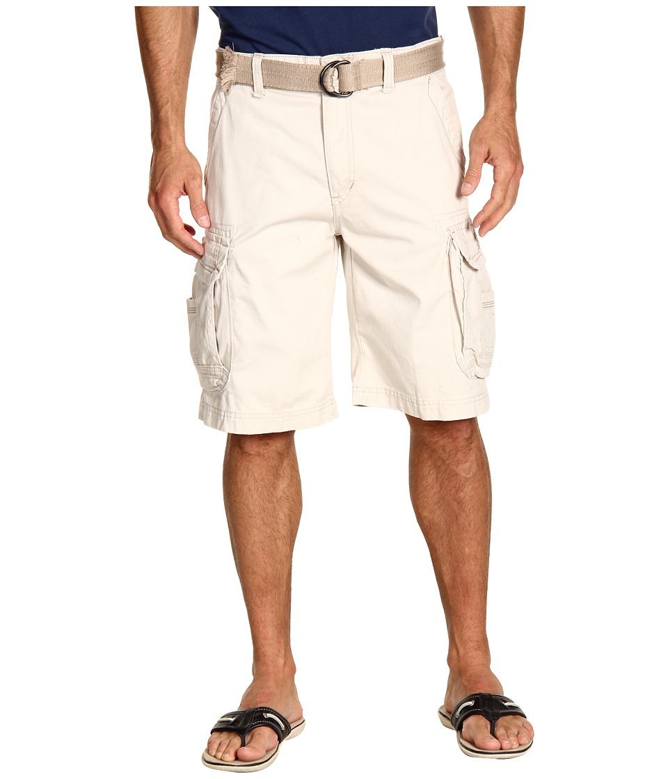 UNIONBAY - Survivor Belted Cargo Short (Stone 1) Men's Shorts