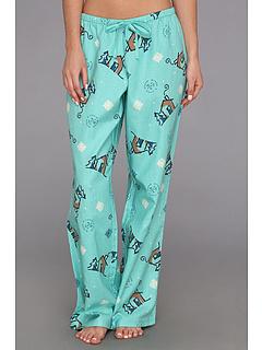 SALE! $17.99 - Save $14 on Life is good Flannel Sleep Pant (Light Peacock Green Snowflakes) Apparel - 43.78% OFF $32.00