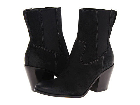 Cole Haan - Graham Short Boot (Black Suede) Women's Boots