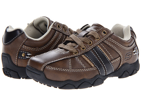 SKECHERS KIDS - Diameter - Bennett 91630L (Little Kid/Big Kid) (Brown) Boys Shoes