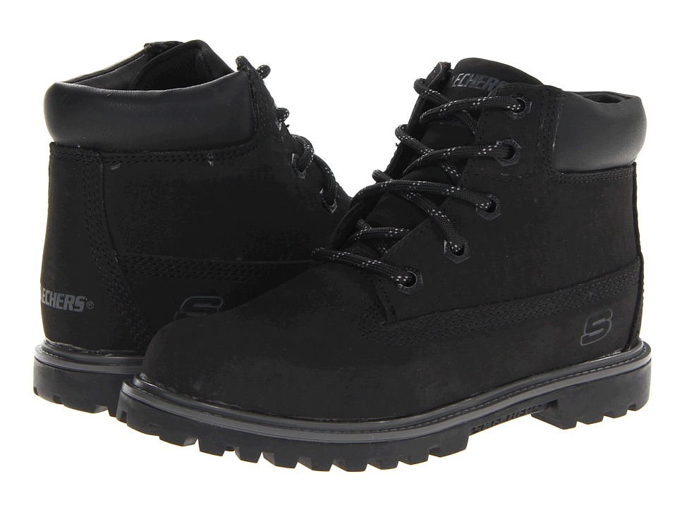 SKECHERS KIDS - Mecca - Bunkhouse 93158L (Little Kid/Big Kid) (Black) Boys Shoes