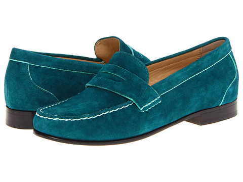 Cole Haan - Monroe Penny (Pendant Teal Suede) Women's Slip-on Dress Shoes