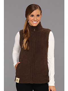 SALE! $21.99 - Save $46 on Life is good Cozy Sherpa Vest (Dark Brown) Apparel - 67.66% OFF $68.00