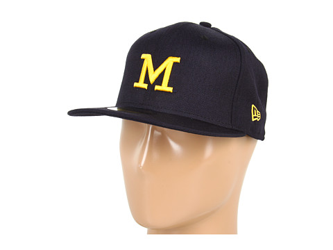 New Era - Michigan Wolverines NCAA AC Stock 59FIFTY (Maize/Blue) Baseball Caps