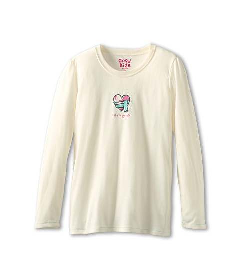 Life is good Kids - Girls Sleep L/S Heartscar (Toddler/Little Kids/Big Kids) (Simply Ivory) Girl's Long Sleeve Pullover