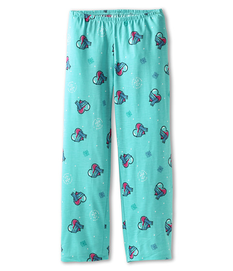 Life is good Kids - Girls Sleep Pant Heartsca (Toddler/Little Kids/Big Kids) (Light Peacock Green) Girl's Pajama