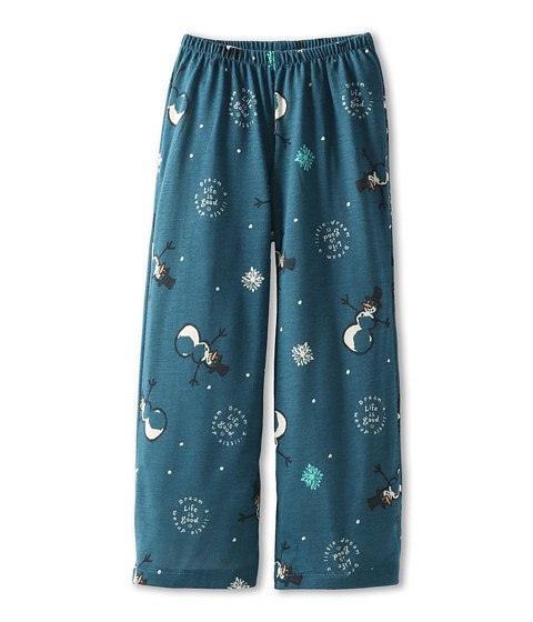 Life is good Kids - Girls Sleep Pant Snowman (Toddler/Little Kids/Big Kids) (Moody Blue) Girl
