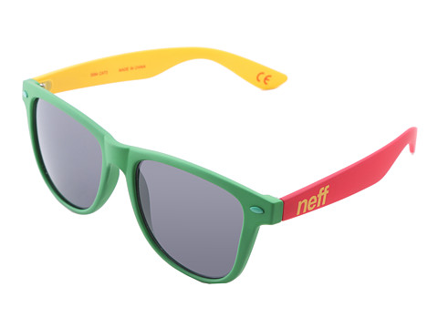 Neff - Daily Shades (Rasta Rubber) Sport Sunglasses