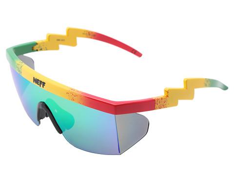 Neff - Brodie Shades (Rasta) Sport Sunglasses