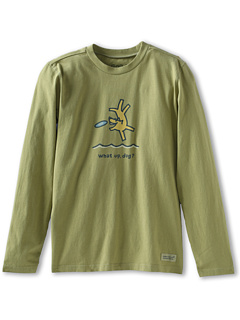 SALE! $17.99 - Save $6 on Life is good Kids Boys Crusher L S Flying What Up (Little Kids Big Kids) (Avacado Green) Apparel - 25.04% OFF $24.00