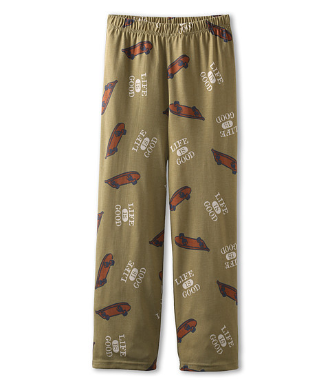 Life is good Kids - Boys Sleep Pant Skateboard (Toddler/Little Kids/Big Kids) (Avacado Green) Boy's Pajama