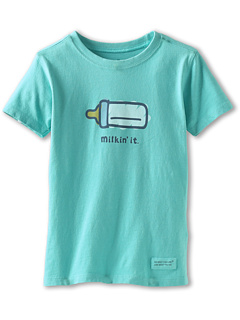 SALE! $14.76 - Save $1 on Life is good Kids Toddler Crusher Tee Milkin` It (Toddler) (Aqua Blue) Apparel - 7.75% OFF $16.00